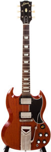 Musical Instruments:Electric Guitars, 1961 Gibson SG Les Paul Cherry Solid Body Electric Guitar,#6167....