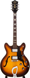 Musical Instruments:Electric Guitars, 1975 Guild Starfire IV Sunburst Semi-Hollow Body Electric Guitar,#125549....