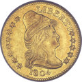 Early Quarter Eagles, 1804 $2 1/2 14 Star Reverse AU58 PCGS. CAC. Breen-6119, BD-2,R.4....