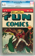 Golden Age (1938-1955):Miscellaneous, More Fun Comics #43 (DC, 1939) CGC FN+ 6.5 Cream to off-white pages....
