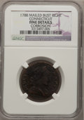 Colonials: , 1788 COPPER Connecticut Copper, Mailed Bust Right--Corrosion--NGCDetails. Fine. NGC Census: (2/11). PCGS Population (2/55)...