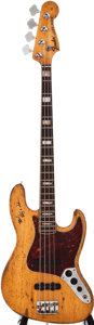 Musical Instruments:Bass Guitars, 1969 Fender Jazz Bass Stripped Natural Electric Bass Guitar, #258175....