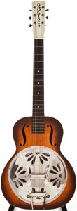 Musical Instruments:Resonator Guitars, 1930s Gretsch Unknown Sunburst Resonator Guitar, #N/A....