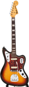 Musical Instruments:Electric Guitars, 1968 Fender Jaguar Sunburst Solid Body Electric Guitar, #162085....