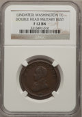 Colonials: , Undated 1C Washington Double Head Cent Fine 12 NGC. NGC Census:(2/60). PCGS Population (7/217). (#692)...