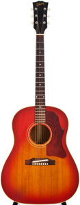 Musical Instruments:Acoustic Guitars, 1966-69 Gibson J-45 ADJ Sunburst Acoustic Guitar, #847635....