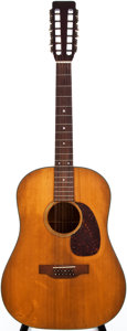 Musical Instruments:Acoustic Guitars, 1969 Martin D-12-20 Natural 12-String Acoustic Guitar, #247319....
