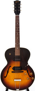 Musical Instruments:Electric Guitars, 1959 Gibson ES-125TD Sunburst Semi-Hollow Body Electric Guitar, #S32576....