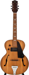 Musical Instruments:Electric Guitars, Circa 1950 Regal Natural Archtop Electric Guitar, #N/A....