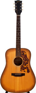 Musical Instruments:Acoustic Guitars, 1970-75 Gibson J-40 Natural Acoustic Guitar, #606624....