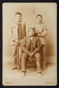 American Indian Art:Photographs, THREE CARLISLE INDIAN SCHOOL STUDENTS . c. 1890...