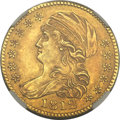 Early Half Eagles, 1812 $5 MS62 NGC. Breen-6466, BD-1, R.3....