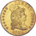 Early Half Eagles, 1800 $5 MS60 NGC. Breen-6438, BD-5, High R.3....