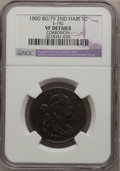Large Cents, 1800 1C 80 Over 79, Style Two Hair, S-192, B-6, R.4--Corroded--NGCDetails. VF Details. PCGS Population ...
