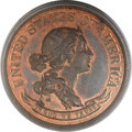 Patterns, 1869 50C Standard Silver Half Dollar, Judd-756, Pollock-840, R.7,PR65 Red and Brown PCGS....
