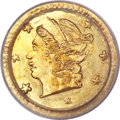 California Fractional Gold, 1867 25C Liberty Round 25 Cents, BG-805, Low R.5, MS66 PCGS....
