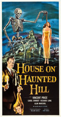 """Movie Posters:Horror, House on Haunted Hill (Allied Artists, 1959). Three Sheet (41"""" X81"""").. ..."""