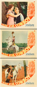 "Movie Posters:Western, Ride Him, Cowboy (Warner Brothers, 1932). Lobby Cards (3) (11"" X14"").. ..."