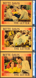 """Movie Posters:Film Noir, The Letter (Warner Brothers, 1940). CGC Graded Lobby Cards (3) (11""""X 14"""").. ... (Total: 3 Items)"""
