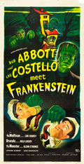 "Movie Posters:Horror, Abbott and Costello Meet Frankenstein (Universal International,1948). Three Sheet (41"" X 81"").. ..."