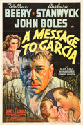 """Movie Posters:Drama, A Message to Garcia (20th Century Fox, 1936). One Sheet (27"""" X 41"""") Style B.. ..."""
