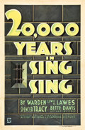 "Movie Posters:Crime, 20,000 Years in Sing Sing (First National, 1932). One Sheet (27"" X41"").. ..."