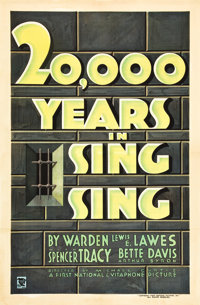 """20,000 Years in Sing Sing (First National, 1932). One Sheet (27"""" X 41"""")"""