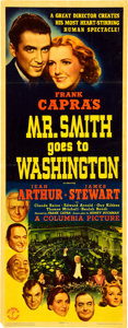 "Movie Posters:Drama, Mr. Smith Goes to Washington (Columbia, 1939). Insert (14"" X 36"")....."