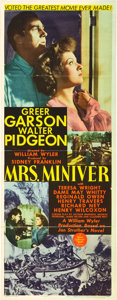 "Movie Posters:Drama, Mrs. Miniver (MGM, 1942). Insert (14"" X 36"").. ..."