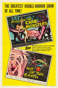 "Movie Posters:Science Fiction, Attack of the Crab Monsters/Not of This Earth Combo (AlliedArtists, 1957). One Sheet (27"" X 41"").. ..."