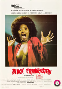 "Blackenstein (Frsco, 1972). One Sheet (27"" X 41"")"