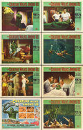 """Movie Posters:Horror, The Creature Walks Among Us (Universal International, 1956). LobbyCard Set of 8 (11"""" X 14"""").. ... (Total: 8 Items)"""