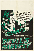 "Movie Posters:Exploitation, Devil's Harvest (Continental, 1942). One Sheet (27.75"" X 42"").. ..."