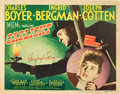 "Movie Posters:Film Noir, Gaslight (MGM, 1944). Autographed Title Lobby Card (11"" X 14"")....."