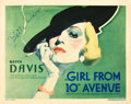"Movie Posters:Drama, The Girl from 10th Avenue (First National, 1935). Autographed TitleLobby Card (11"" X 14"").. ..."