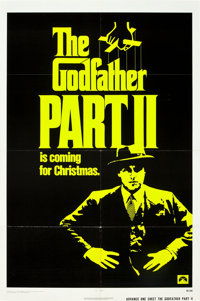 """The Godfather Part II (Paramount, 1974). One Sheet (27"""" X 41"""") and Lobby Card Set of 8 (11"""" X 14"""")..."""