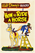 "Movie Posters:Animation, How to Ride a Horse (RKO, R-1950). One Sheet (27"" X 41"").. ..."