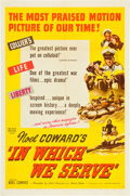 """Movie Posters:War, In Which We Serve (United Artists, 1942). One Sheet (27"""" X 41"""").. ..."""