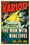 """Movie Posters:Horror, The Man with Nine Lives (Columbia, 1940). One Sheet (27"""" X 41"""").. ..."""