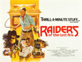 "Movie Posters:Adventure, Raiders of the Lost Ark (Paramount, 1981). British Quad (30"" X 40"")Style B.. ..."