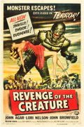 "Movie Posters:Horror, Revenge of the Creature (Universal International, 1955).Autographed One Sheet (27"" X 41"").. ..."