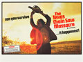 "Movie Posters:Horror, The Texas Chainsaw Massacre (Bryanston, 1974). British Quad (30"" X40"").. ..."