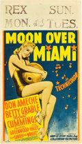 "Movie Posters:Musical, Moon Over Miami (20th Century Fox, 1941). Midget Window Card (8"" X14"").. ..."