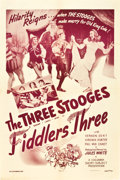 """Movie Posters:Comedy, Three Stooges in Fiddlers Three (Columbia, 1948). One Sheet (27"""" X41"""").. ..."""