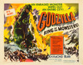 "Movie Posters:Science Fiction, Godzilla (Trans World, 1956). Half Sheet (22"" X 28"") Style A.. ..."