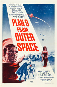 "Plan 9 from Outer Space (DCA, 1958). One Sheet (27"" X 41"")"