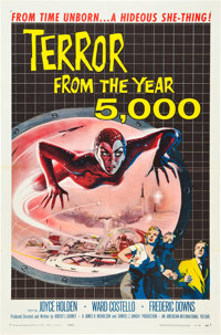 """Terror from the Year 5000 (American International, 1958). One Sheet (27"""" X 41"""")"""