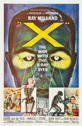 "Movie Posters:Science Fiction, X - The Man with the X-Ray Eyes (American International, 1963). OneSheet (27"" X 41"").. ..."
