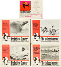 "The Endless Summer (Cinema 5, 1966). Lobby Card Set of 4 (11"" X 14"") and Showing Schedule Herald (8.75"" X..."