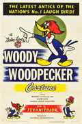"Movie Posters:Comedy, Woody Woodpecker Stock (Universal International, 1950). One Sheet(27"" X 41""). Animated.. ..."